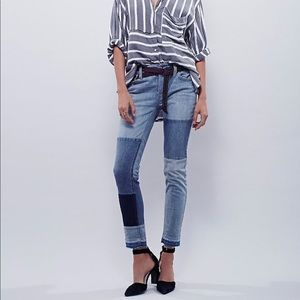 Free People Patch Jeans
